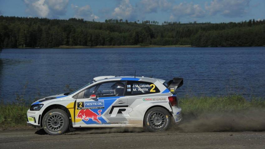 Latvala bei der Rallye-Finnland