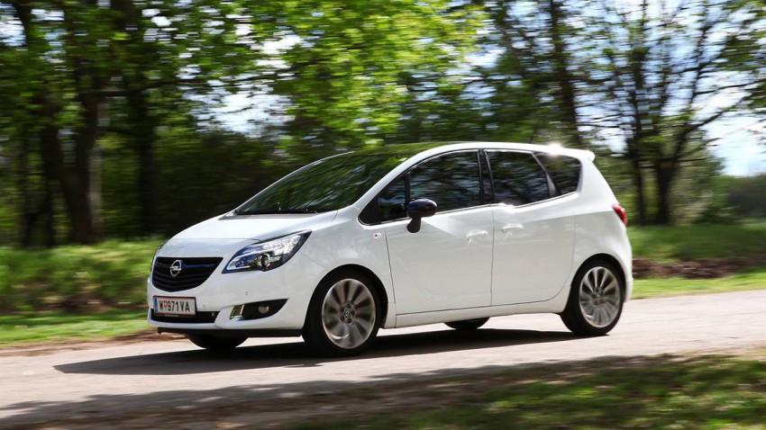 Opel Meriva 1,6 CDTI Color vorne front seite scheinwerfer