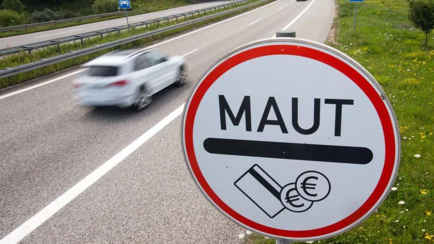 Maut-Verkehrsschild in Deutschland
