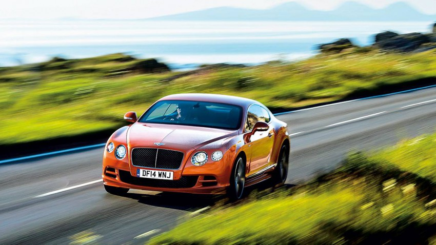 bentleycontinental w12 gt speed vorne front seite orange