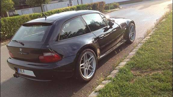 bmw z3 coupe 1999 hinten heck seite