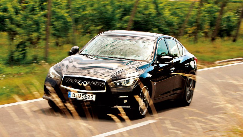 infiniti q50s hybrid awd 2014 vorne front seite