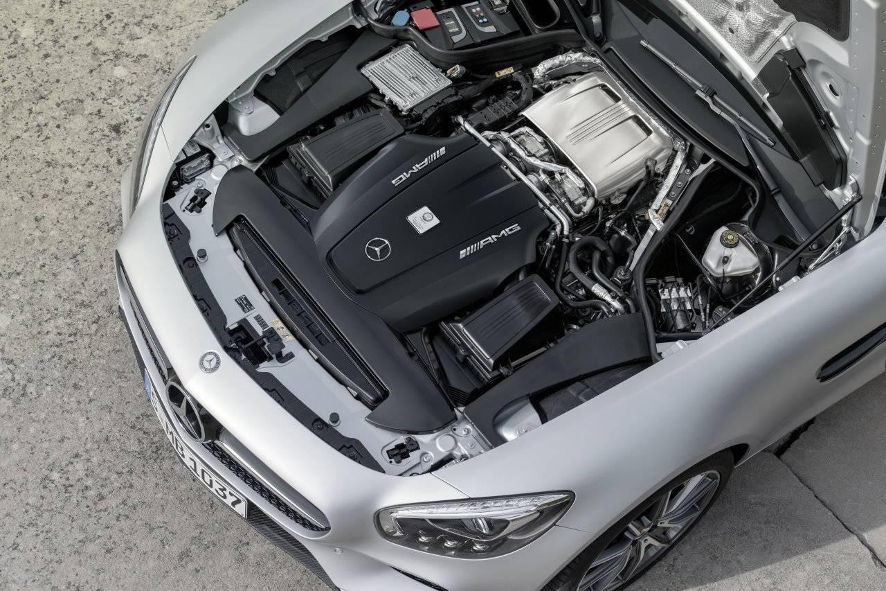 mercedes amg gt s 2015 motorraum motor