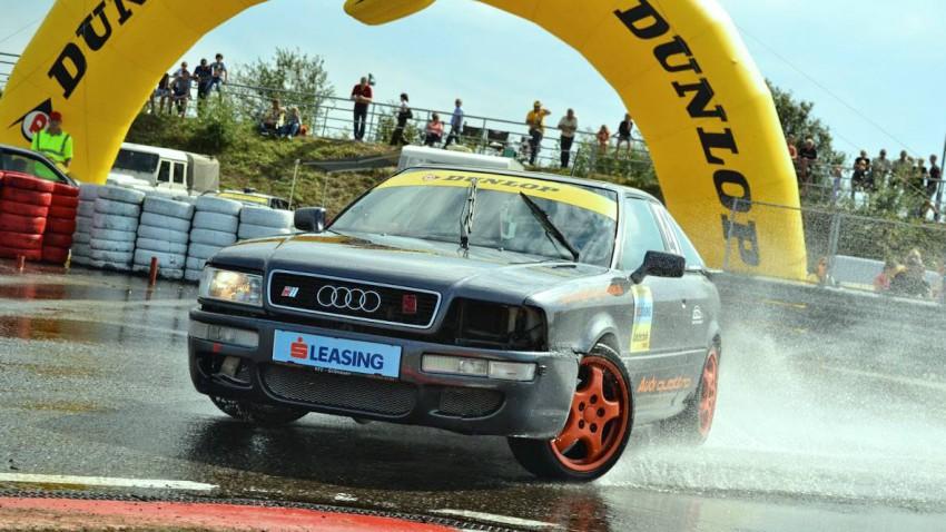 Benjamin Klabutschar ist in Wels mit seinem allradgetriebenen Audi Coupé mit von der Partie.
