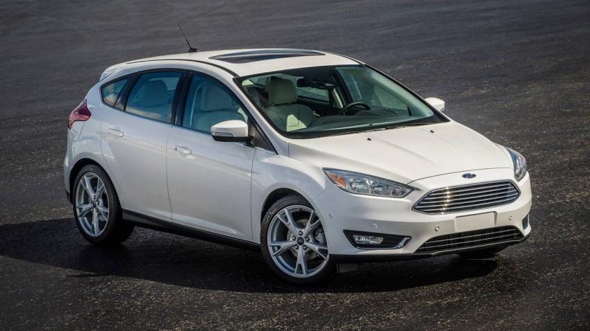 neuer ford focus 2015 weiß front vorne scheinwerfer grill kühlergrill