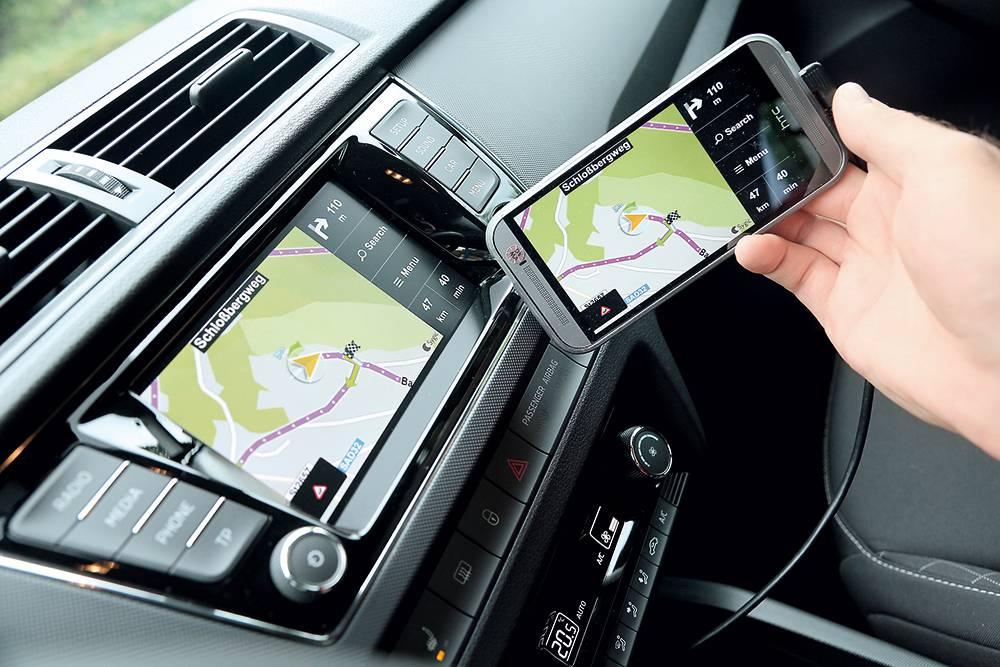 SPIEGLEIN, SPIEGLEIN Das Smartphone aufs Display gespiegelt (MirrorLink).