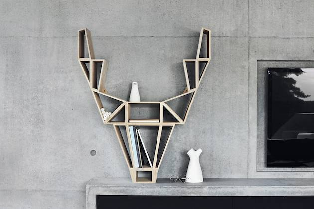12-Geometric-Deer-Head-Bookshelf-Design-1