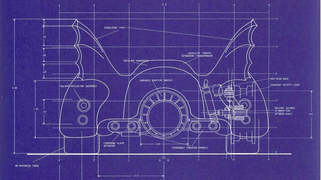 Batmobil Blueprints Blueprint Baunanleitung selber bauen Selberbauen