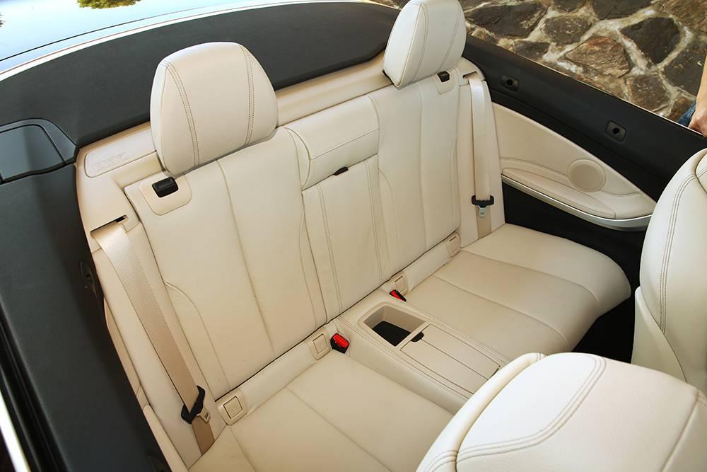 bmw 420d cabrio 2014 rückbank hinten innen interieur