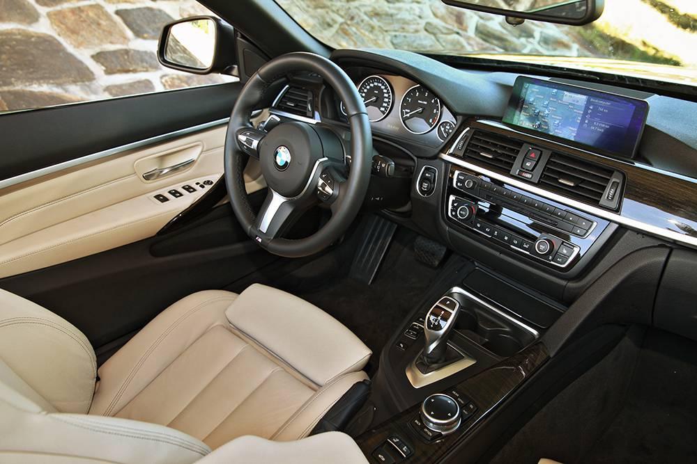 bmw 420d cabrio 2014 cockpit innenraum lenkrad mittelkonsole display sitze interieur