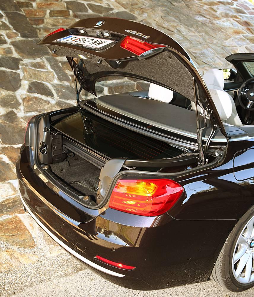 bmw 420d cabrio 2014 kofferraum offen