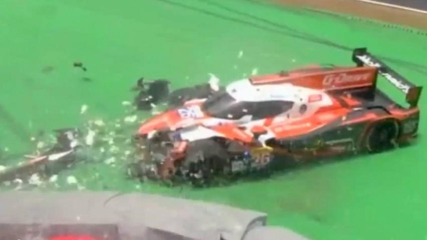 Langstrecken-WM-Auto wird bei Crash zu Konfetti