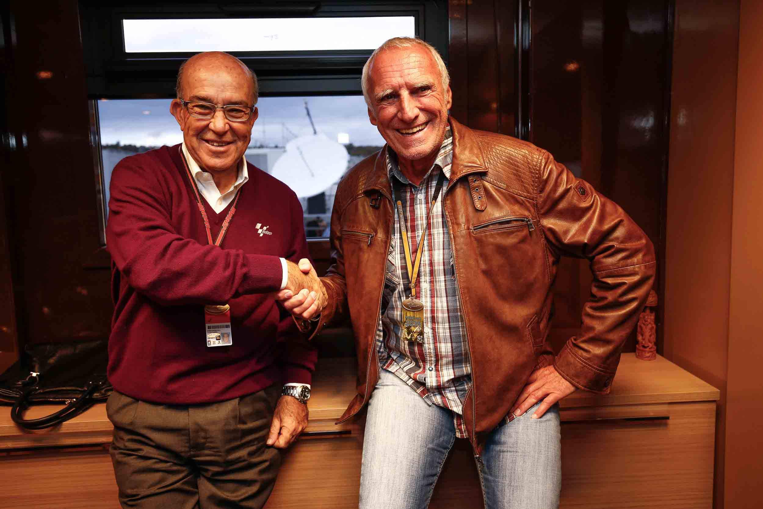 Dietrich Mateschitz und Carmelo Ezpeleta (CEO von Dorna Sports)