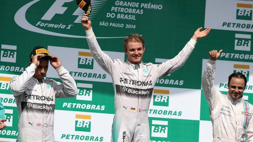 Rosberg bestand die Nervenprobe und siegte in Brasilien