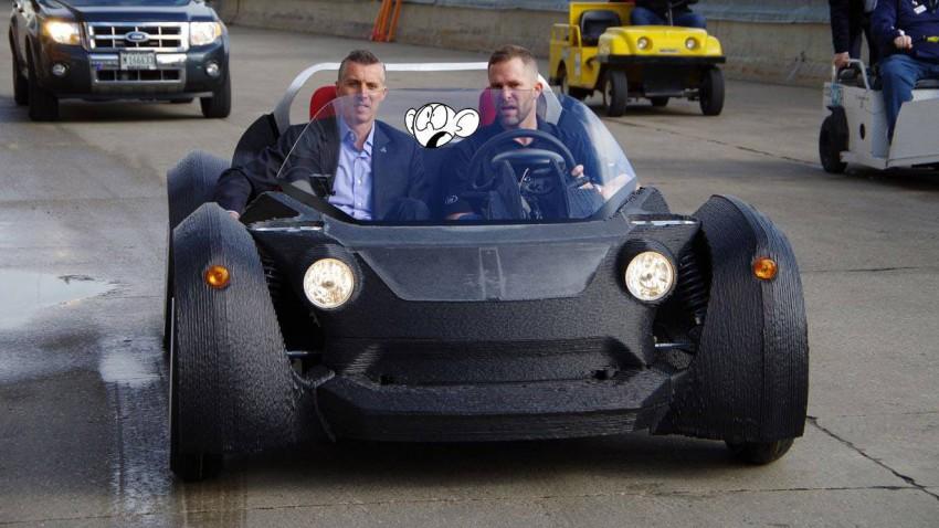 Bis zu 80 km/h fährt dieses Elektroauto. Seine Besonderheit? Es stammt aus dem 3D-Drucker!