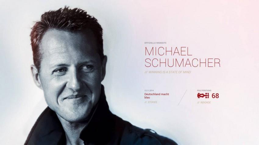 Seit 13.11.2014 9 Uhr ist die Website von Michael Schumacher wieder online.