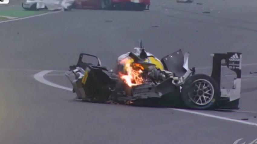 Das war kurz zuvor noch Webbers Porsche 919