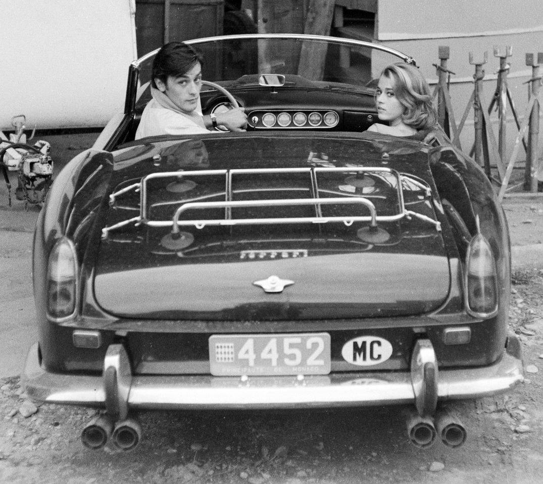 Delon und Fonda im gefundenen 250 GT SWB California Spider
