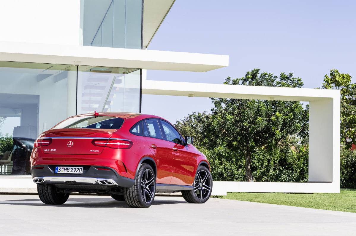 mercedes gle coupe 2015 hinten heck
