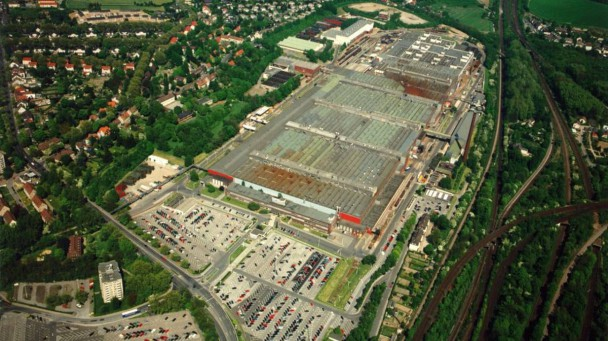 Das Opel-Werk Bochum aus der Luft.