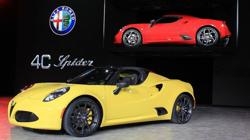 Alfa Romeo 4C Spider. Foto (c) press-inform