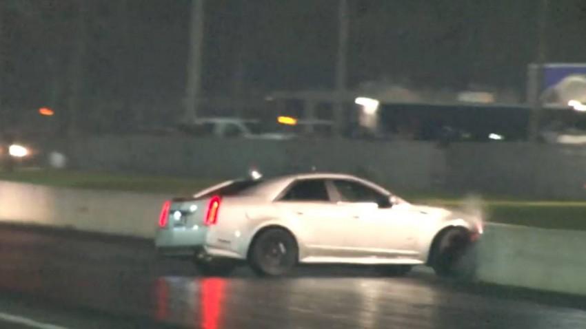 Du sollst nicht mit dem Cadillac CTS-V gegen die Mauer fahren