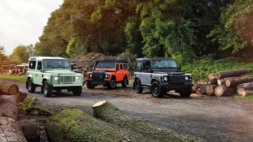 2015 ist für den Land Rover endgültig Schluss. Zur Feier gibt's drei Sondermodelle und ein gigantisches Strandgemälde.