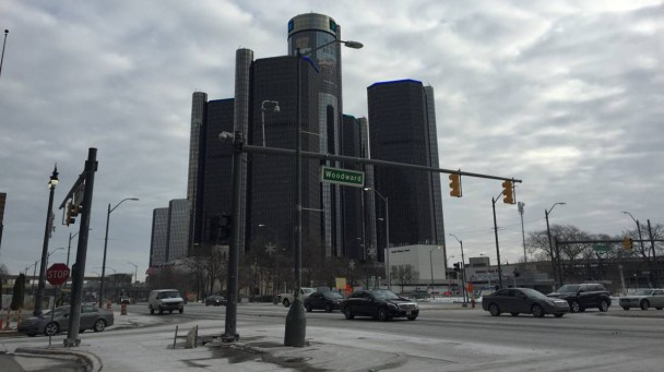 Der GM-Tower in Detroit