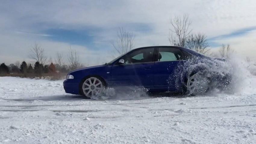 NSFW: Driften und Donuts mit dem S4 Quattro im Schnee in Slow Motion