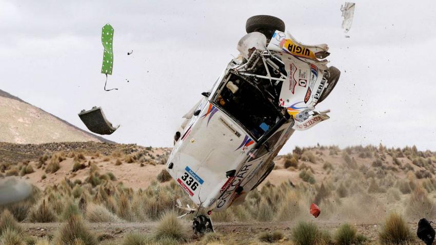 Juan Manuel und Silva Pablo Sisterna überstehen den Unfall unverletzt.