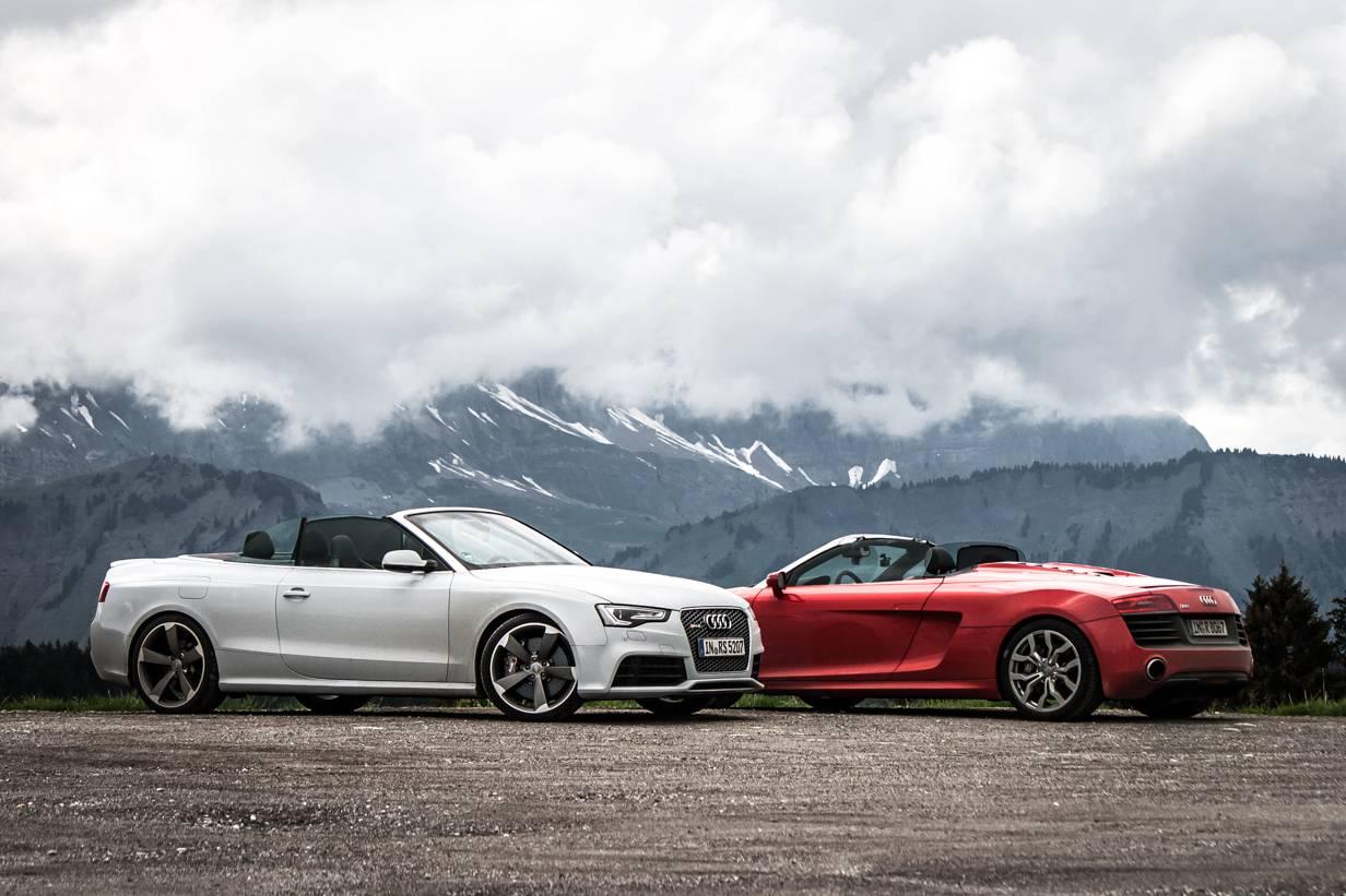 Audi RS 5 Cabriolet,Audi R8 V10 Spyder,Road Trip