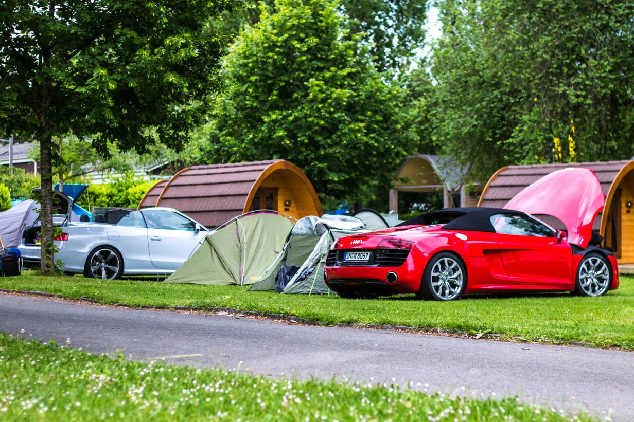 Audi RS 5 Cabriolet, Audi R8 V10 Spyder,Camping,Genfer See,Thonon-Les-Bains