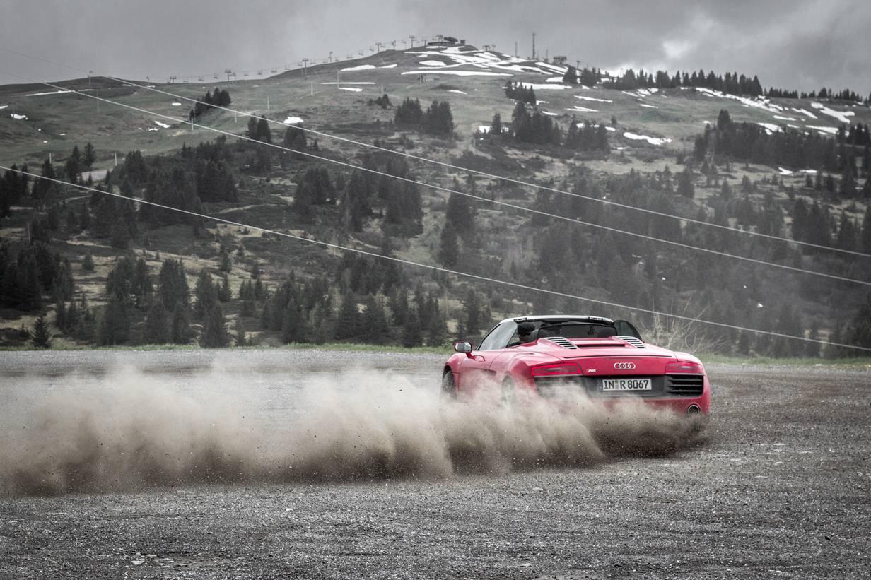 Route des Grandes Alpes - Col des Aravis, Audi R8 V10 Spyder,Drift