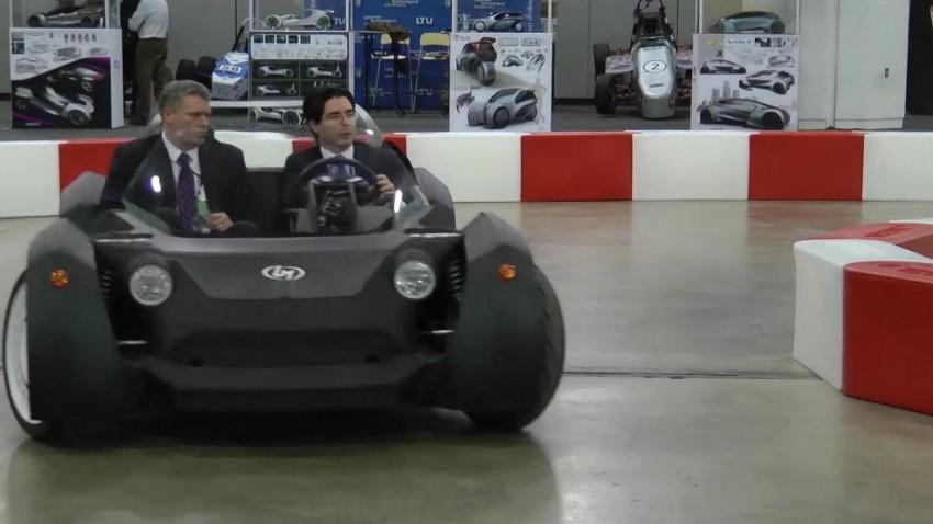"""Das ist der """"Strati"""" auf der Detroit Motor Show."""