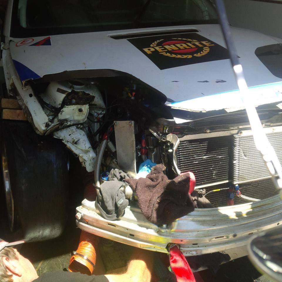Der M3 nach dem Unfall.