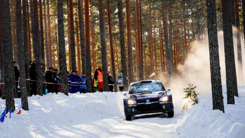 Knappes Finish bei der Rallye Schweden