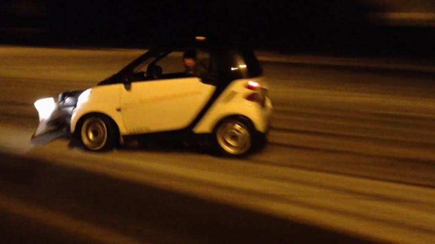 Driften mit dem Schneepflug-Smart