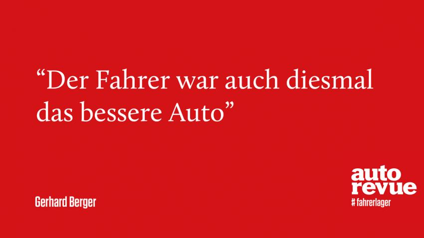 11 Sprüche von Gerhard Berger