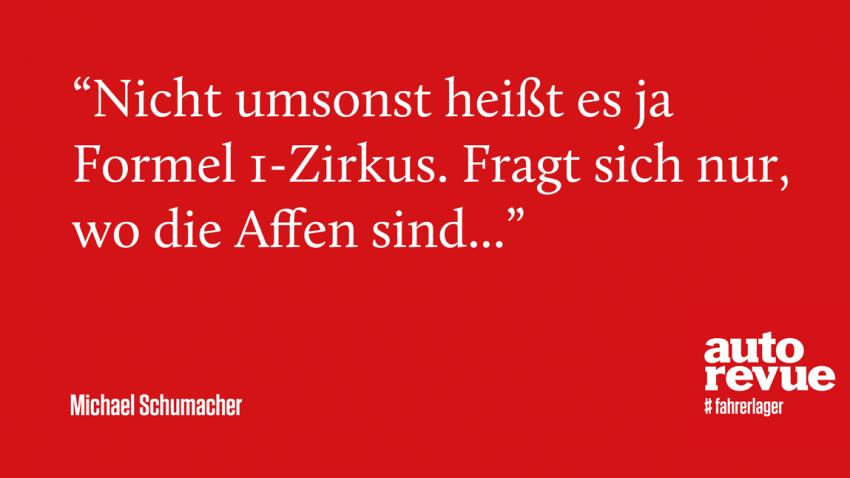 11 Sprüche von Michael Schumacher