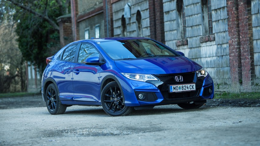 Honda Civic 1,6 i-DTEC Sport Edition 2015 blau vorne front seite scheinwerfer
