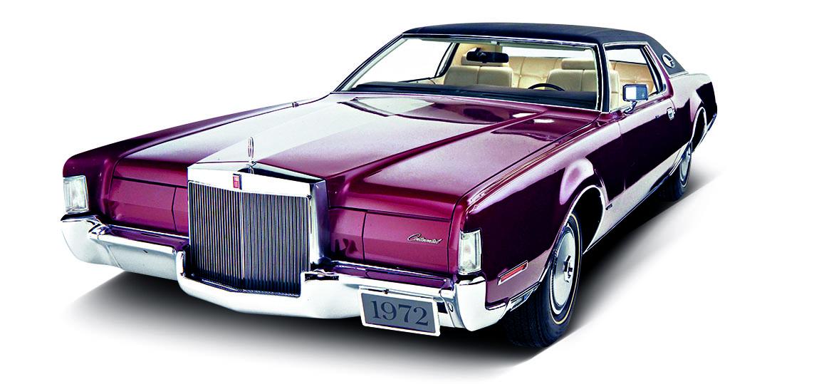 1972 - Continental Mark IV. In Filmen fahren die harten Typen so einen, in der Wirklichkeit sitzt unter anderem Joe Frazier am Steuer.