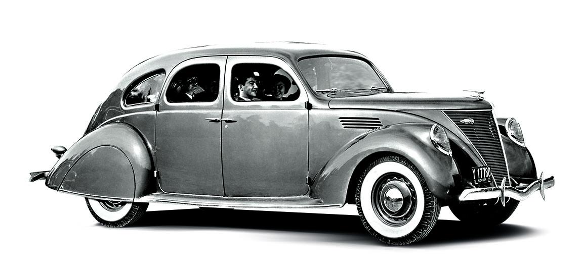 1936 - Zephyr. Ein Auto für den jungen Kunden der 1930er Jahre. Edsel Ford emanzipierte sich mit diesem Auto von seinem Vater.
