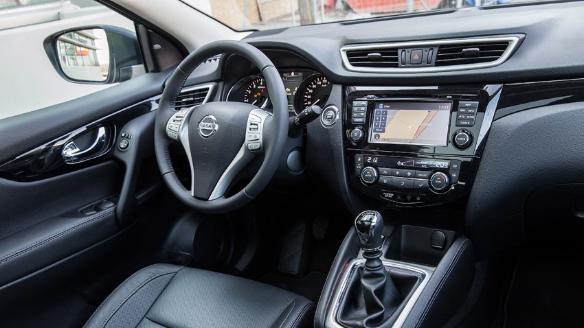 Nissan Qashqai 1,6 DIG-T Tekna innenraum mittelkonsole interieur