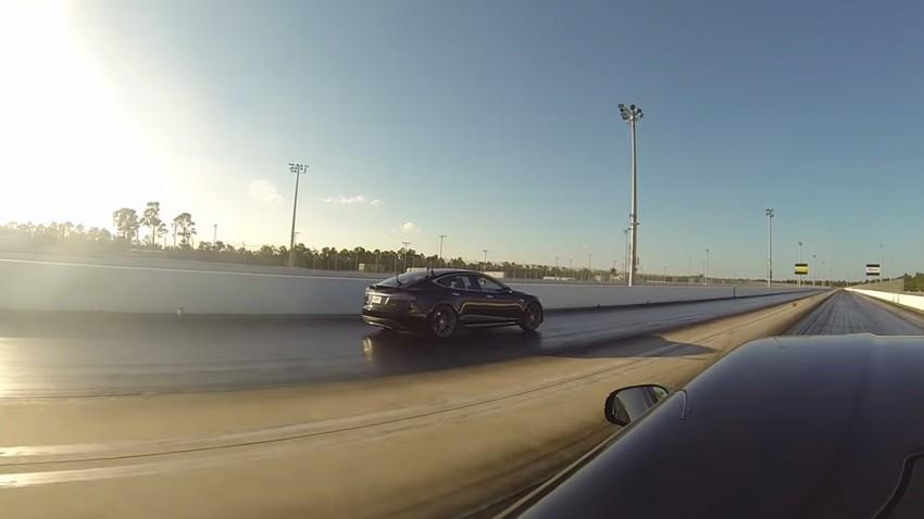 Tesla Model S P85D vs. Ferrari F12