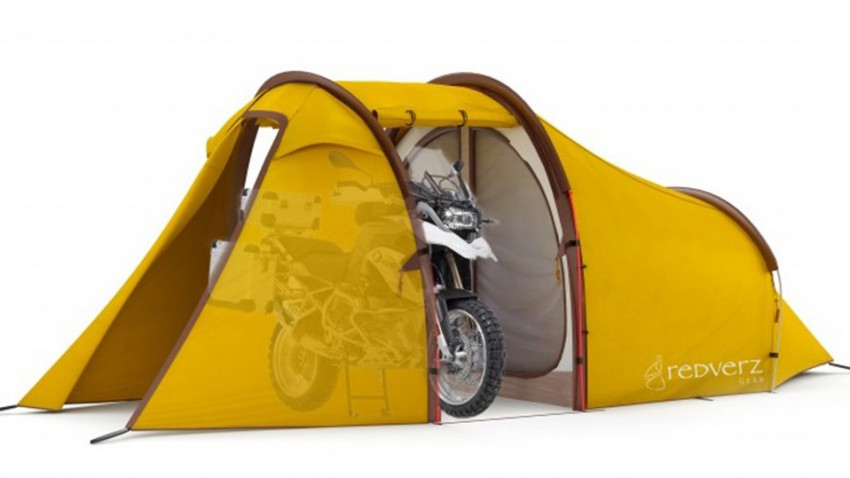 Atacama Expeditionszelt: Dem Motorrad ein eigenes Zimmer