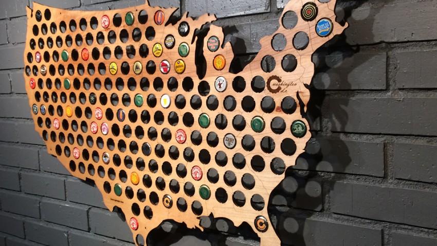 Beer Cap Map: Kronkorken als Reiseführer