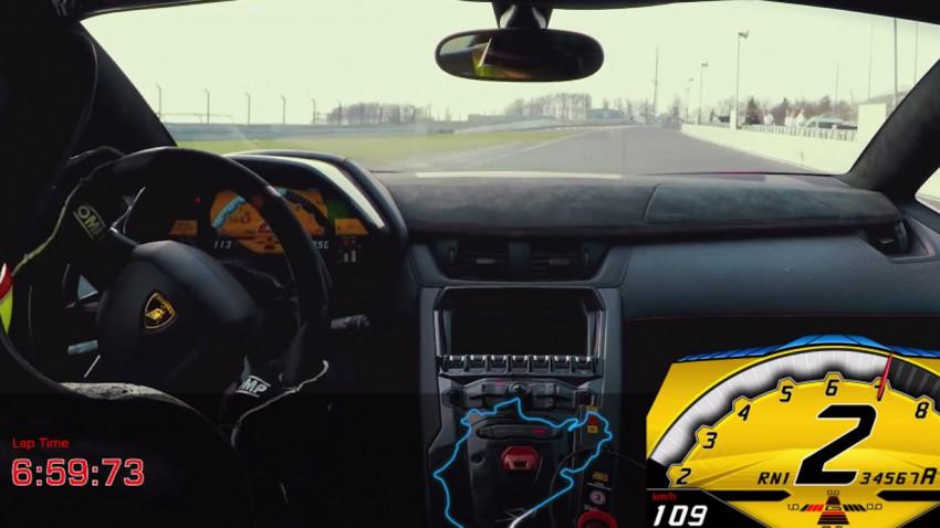 Ganz ohne Hybrid - Aventador SV in 6:59 min auf der Nordschleife