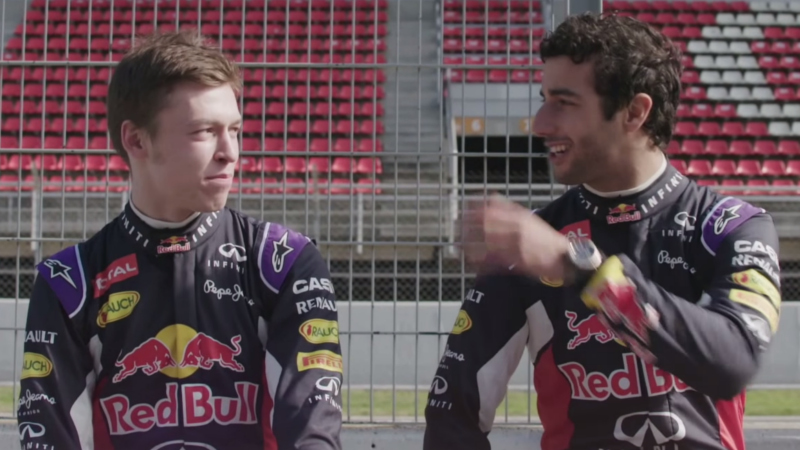 Daniil Kvyat und Daniel Ricciardo verstehen sich super