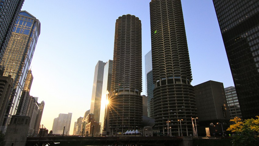 Marina Towers in Chicago.