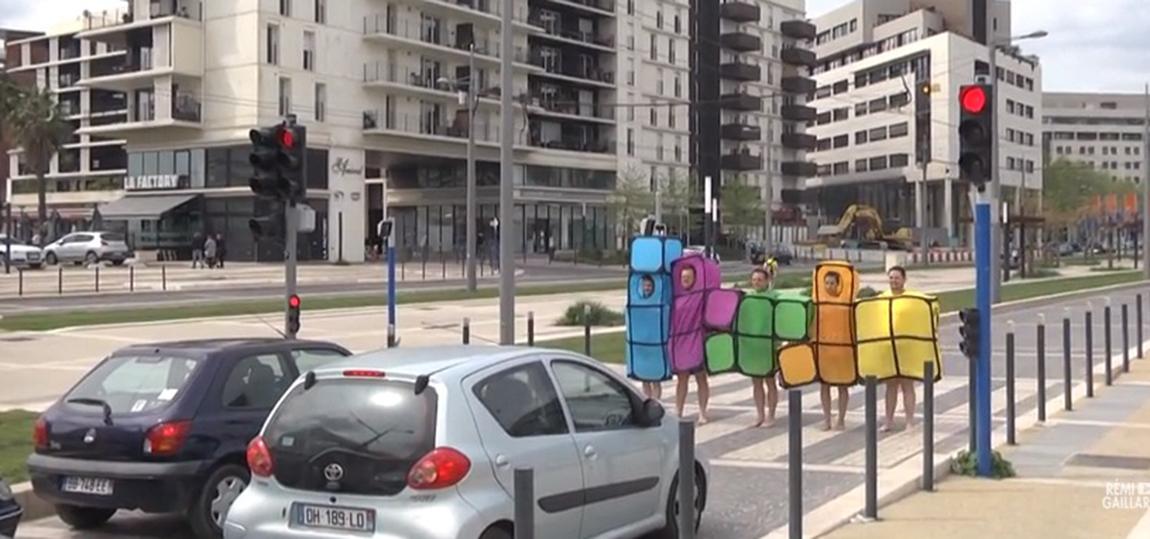 Tetris-Streich-Ampel